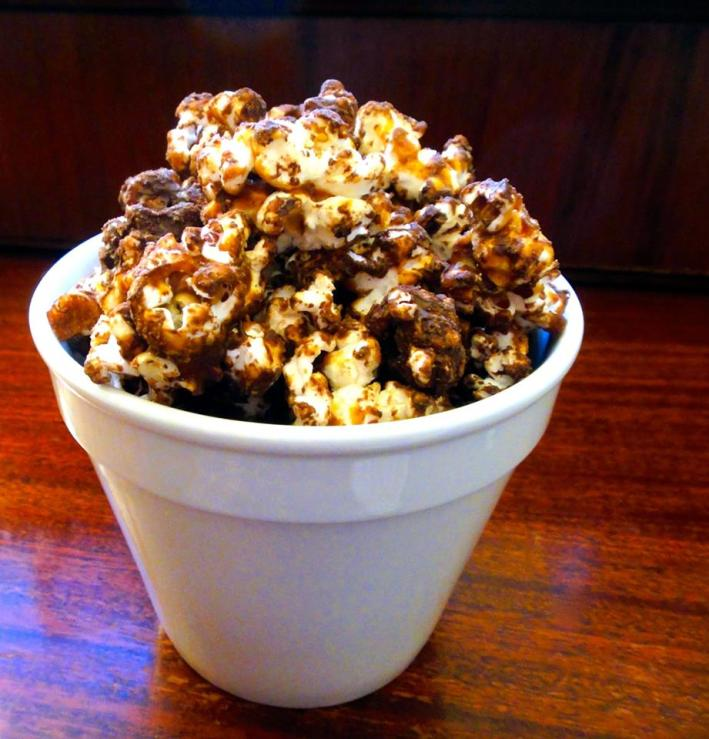 popcorn, chocolate covered