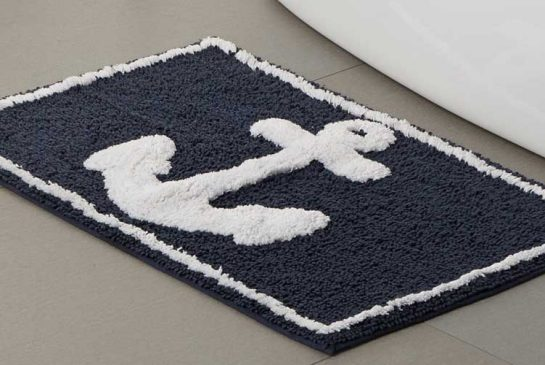 This one's a magnet for sailors. Marine Anchor Bath Mat, $20, Simons