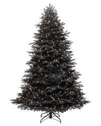 NOMA Alaskan Pre-Lit Black Christmas Tree, 7 feet
