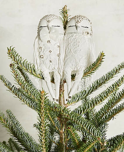 Owl Couplet Tree Topper, Anthropologie