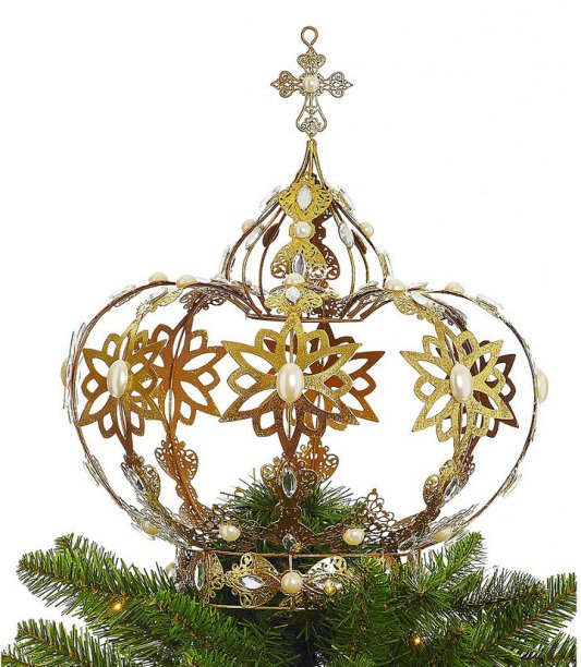 dillard-s-trimmings-let-it-sneaux-crown-tree-topper