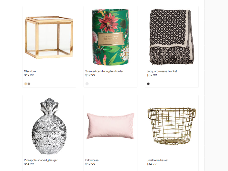 H&M Home offereings