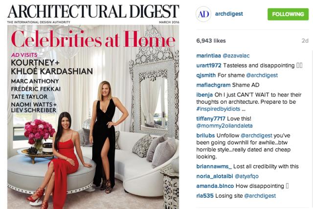 Karsdashians -Arch Digest Instagram
