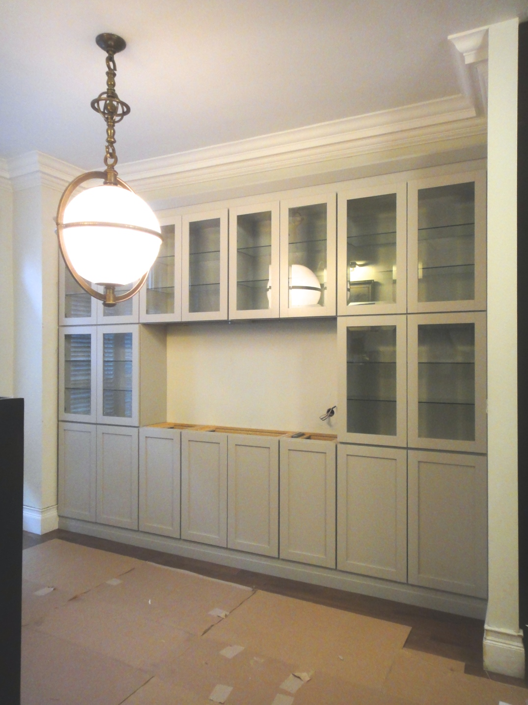 Dining cabinets install