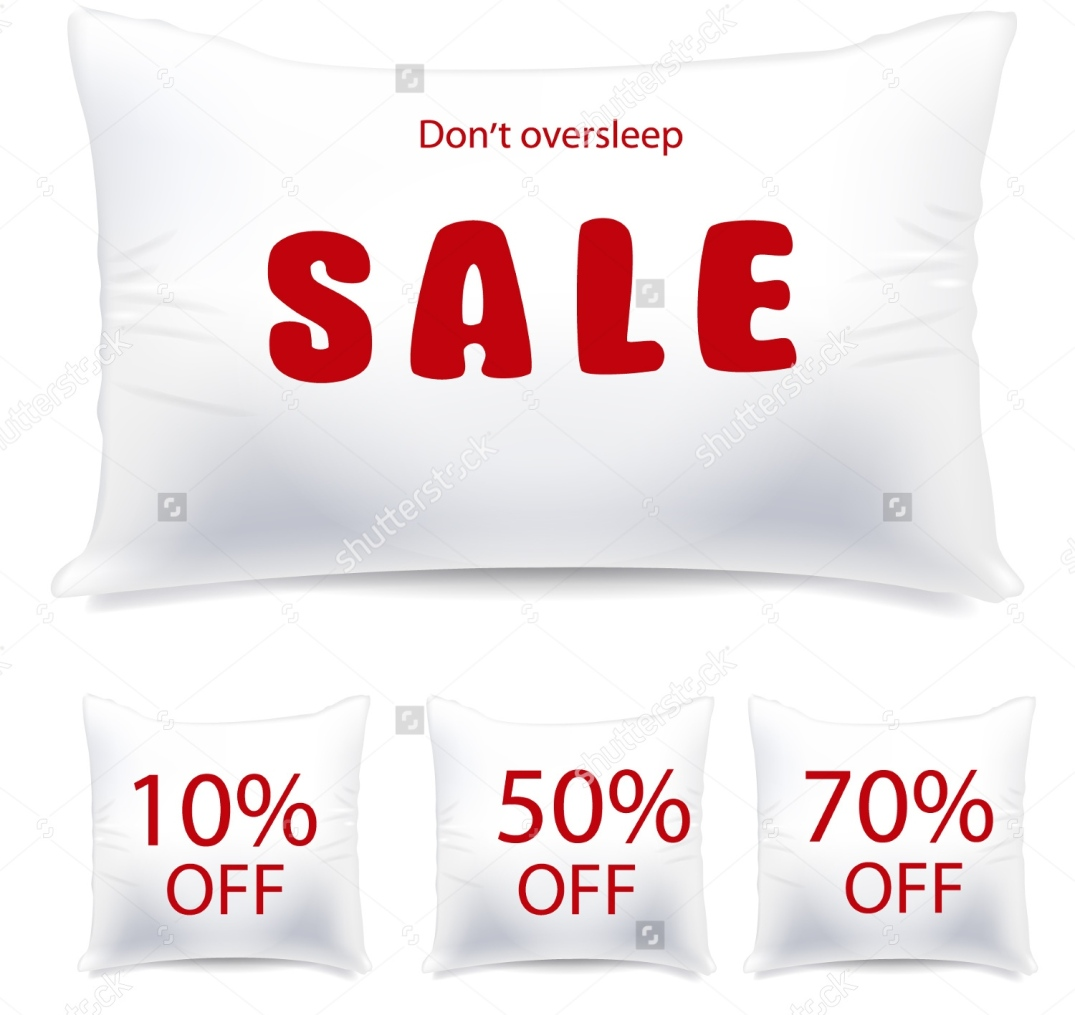 stock-vector-vector-white-pillow-as-sale-or-discount-tag-93558607